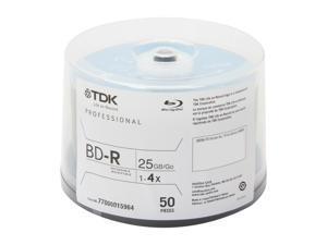 TDK 25GB 4X BD-R 50 Packs Disc Model 49024