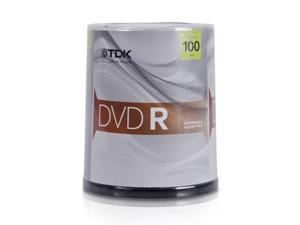 TDK 4.7GB 16X DVD-R 100 Packs Disc Model 61791