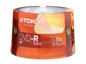 50 Packs TDK 4.7GB Spindle Disc