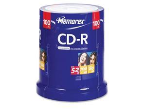 memorex 700MB 52X CD-R 100 Packs Disc Model 04581