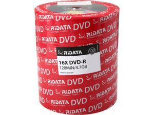 RiDATA 4.7 GB 16X DVD-R 100 Pack Shrink Wrap Model DRD-4716-RD100ECOW