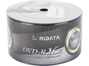 RiDATA Magic Silver 4.7 GB 16X DVD-R 50 Packs Disc Model DRD-4716-RDMS50W