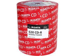 100-Pack Ridata R80JS52-RDF100 700MB 52X Inkjet Printable CD-R CD Disc Spindle