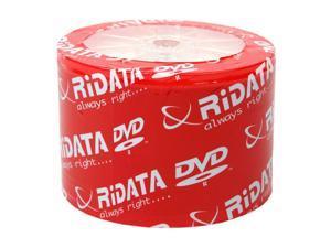 RiDATA 4.7GB 8X DVD-R Inkjet Printable 50 Packs Disc Model DRD-47-8X-RDIW50N2