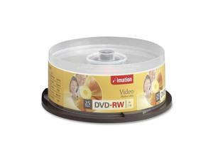 imation 4.7GB 4X DVD-RW 25 Packs Disc Model 17346