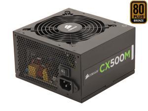 CORSAIR CX-M series CX500M 500W 80 PLUS BRONZE Active PFC ATX12V & EPS12V Modular Power Supply
