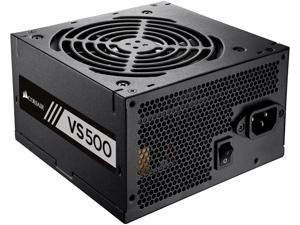 CORSAIR VS Series VS500 (CP-9020118-NA) 500W ATX12V / EPS12V 80 PLUS WHITE Certified Active PFC Power Supply