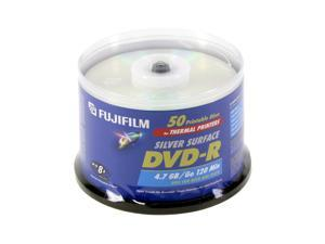 FUJIFILM 4.7GB 8X DVD-R Thermal Printable 50 Packs Disc Model 25302485