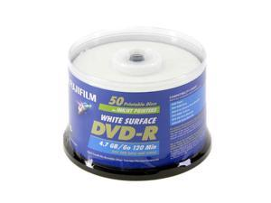 FUJIFILM 4.7GB 8X DVD-R Printable 50 Packs Disc Model 25302482