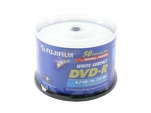 FUJIFILM 4.7GB 8X DVD-R Thermal Printable 50 Packs Disc Model 25302481