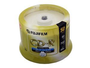 FUJIFILM 700MB 48X CD-R Inkjet Printable 50 Packs Disc Model 25307212