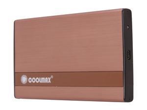 """COOLMAX HD-250BZ-U2 2.5"""" Copper SATA I/II USB 2.0 External Enclosure"""
