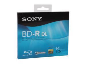 SONY 50GB 2X BD-R DL Single Disc Model BNR-50RH