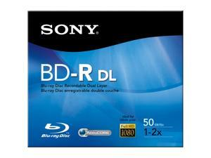 SONY 50GB 2X BD-R DL Single Media Model BNR50RH