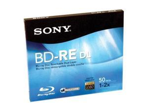 SONY 50GB 2X BD-RE Single Rewriteable Double Layer Blu-Ray Disc Model BNE50RH