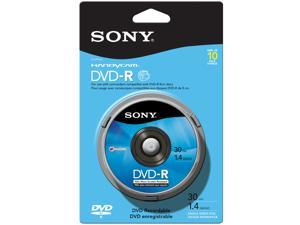 SONY 1.4GB DVD-R 10 Packs Media Model 10DMR30RS1H