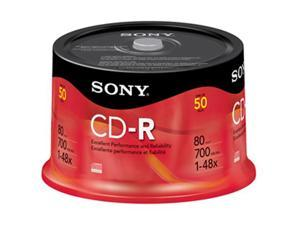SONY 700MB 48X CD-R 50 Discs Disc Model 50CRM80RS