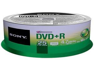 Sony DVD Recordable Media - DVD+R - 16x - 4.70 GB - 25 Pack Spindle