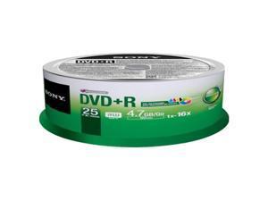 SONY 4.7GB 16X DVD-R Inkjet Printable 25 Packs Disc Model 25DPR47PP