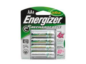 Energizer AANH4 4-pack 2450mAh AA Ni-MH Rechargeable Batteries