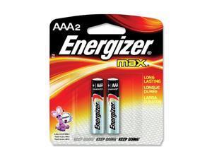 Energizer E92BP-2 2-pack AAA Alkaline Batteries