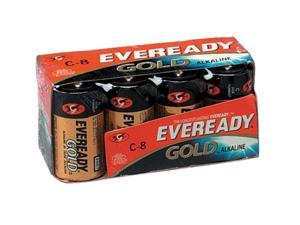 Eveready A93-8 8-pack Size C Alkaline Batteries