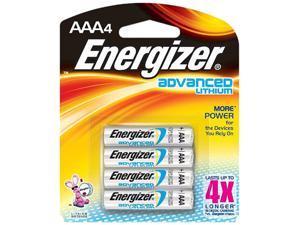 Energizer EA92BP4 4-pack AAA Lithium Batteries