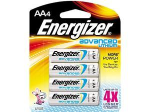 Energizer EA91BP4 4-pack AA Lithium Batteries