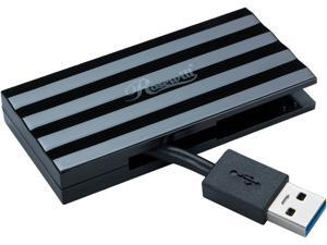 Rosewill RHB-320B USB 3.0 4 Ports Mini Hub with Built-in Cable