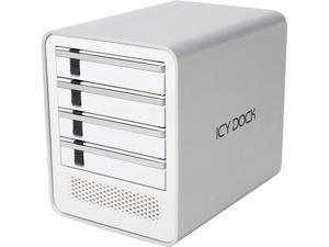 "ICY DOCK ICYCube MB561U3S-4S 4 Bay USB 3.0 & eSATA(PM) Hot Swap 2.5""/3.5"" SATA HDD/SSD External Enclosure - White"