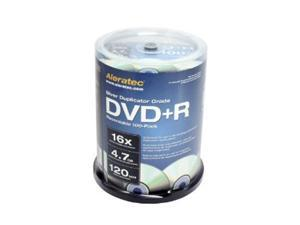 Aleratec 4.7GB 16X DVD+R 100 Packs Silver Duplicator Grade Media Model 300118