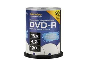 Aleratec 4.7GB 16X DVD-R Inkjet Printable 90 Packs Disc
