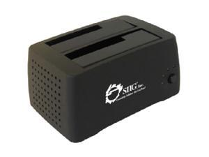 "SIIG SC-SA0412-S1 2.5"" & 3.5"" Black USB 2.0 Dual Bay external docking station"