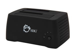 SIIG SC-SA0J12-S1 Black SuperSpeed USB 3.0 to SATA 3Gb/s Dual Docking