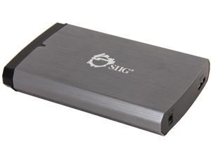 "SIIG JU-SA0H11-S1 2.5"" Dark Silver/Black IDE / SATA USB 3.0 External Enclosure"