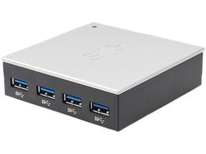 SIIG JU-H40812-S1 USB 3.0 4-Port Hub with 5V/4A Adapter
