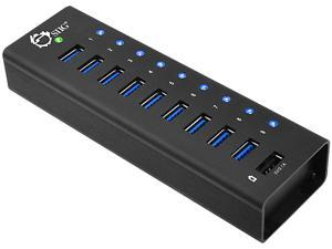 SIIG USB 3.0 9-Port HUB + 1-Port 2.1A Charging with 12V/5A Power Adapter