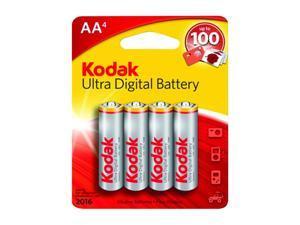 Kodak KUDAA4 4-pack AA Alkaline Batteries