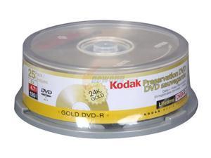 Kodak 4.7GB DVD-R 25 Packs Disc Model 51125
