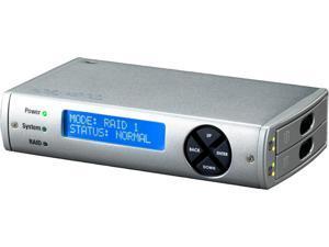"CRU ToughTech Duo 3SR 36020-3010-0100 Silver Aluminum 2.5""  SATA HDD/SSD to USB3.0 & eSATA High Performance RAID storage system"