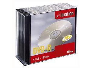imation 4.7GB 16X DVD-R 10 Packs Disc Model 17619