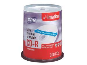 imation 700MB 52X CD-R Silver Thermal Printable 100 Packs Disc - No Logo Model 17276