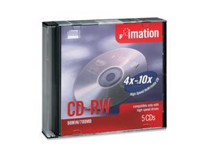 imation 700MB 10X CD-RW 5 Packs Media Model 16950