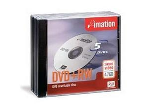 imation 4.7GB 4X DVD+RW 5 Packs Media Model 16804