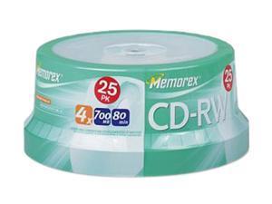 Memorex 25-pack CD-RW 80MIN Spindle