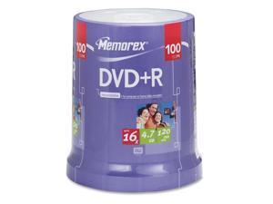 memorex 4.7GB 16X DVD-R 100 Packs Disc