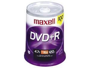 maxell 4.7GB 16X DVD+R 100 Packs Disc Model 639016