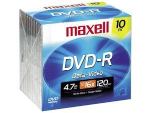 maxell 4.7GB 16X DVD-R 10 Packs Disc Model 638004
