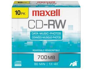 maxell 700MB CD-RW 10 Packs Disc Model 630011