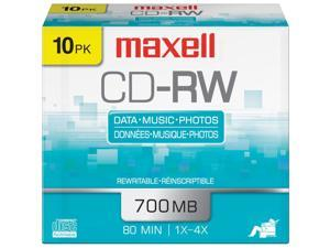 maxell 700MB CD-RW 10 Packs Disc Model 630011